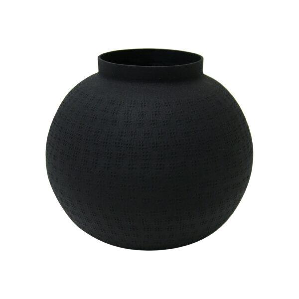 METALL BALL VASE BLACK